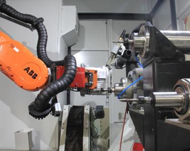 机器人抓取工件清理打磨
