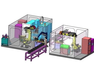 机器人自动清理生产线